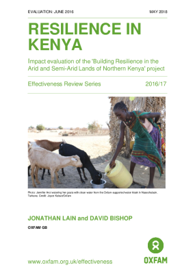Resilience in Kenya: Impact evaluation of the 'Building Resilience in the Arid and Semi-Arid Lands of Northern Kenya' project