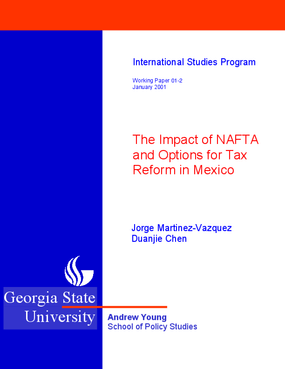NAFTA and Mexico's Tax Policy Reform